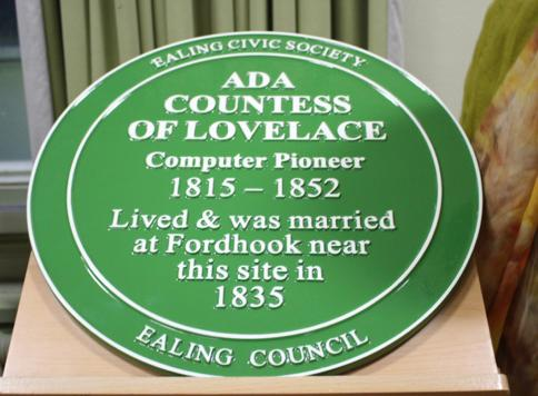 Ada Lovelace plaque