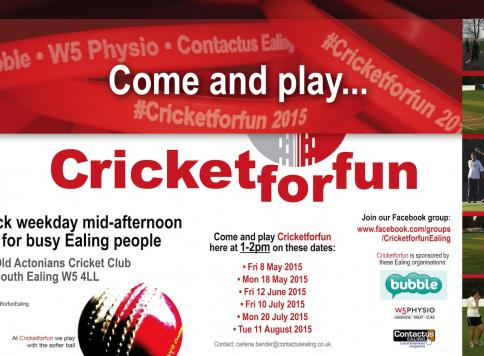 Come and play Cricketforfun in Ealing