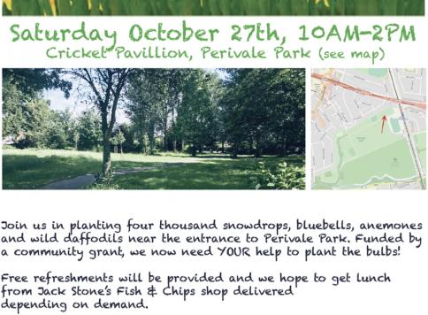 Perivale Park Spring Bulb planting day