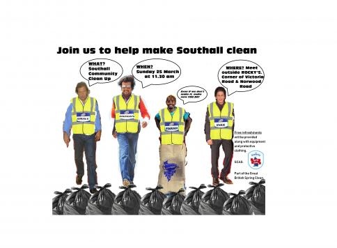 Southall Community Clean Up - Victoria and Hammond Roads