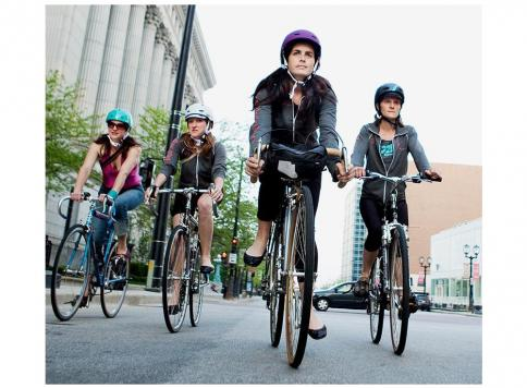 Parents and children cycling training